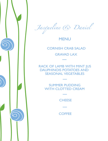 GUEST MENU CARD 105 x 148 mm flat card